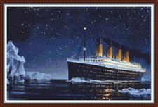 "'TITANIC' Counted Cross Stitch PATTERN/CHART 19""x13"" Ship/White Star Line NEW"