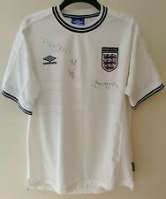 RARE SIGNED AUTOGRAPHED SIGNED ENGLAND FOOTBALL SOCCER JERSEY SHIRT TOP 99-01 XL