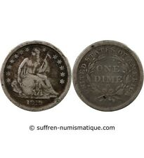 """USA - 10 CENTS ARGENT """"Seated Liberty Dime"""" 1840 O NOUVELLE-ORLEANS"""