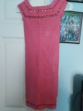 Bebe Stretchy Pink Cut Out Dress S