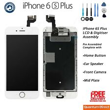 iPhone 6S Plus Complete Retina LCD Digitiser Touch Screen Assembly w/Parts WHITE