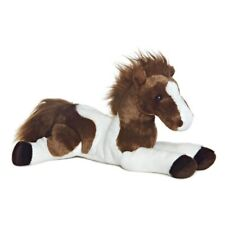 """12"""" Brown & White Flopsie Tola Horse Soft Toy - Aurora Plush New Cuddly 12"""
