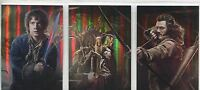 Hobbit Desolation Of Smaug Complete Foil Collage Poster Chase Card Set CP1-3