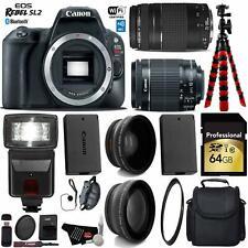 Canon EOS Rebel SL2 DSLR Camera +18-55mm is STM Lens & 75-300mm III Lens+ UV FLD