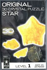 Bepuzzled YELLOW STAR 3D Crystal Jigsaw Puzzle 38 Pc