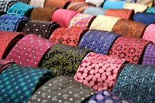 Lot 50 Pcs 100% Silk Neckties Quilting Craft Cutter Job Wear Tie