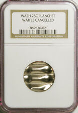 QUARTER 25c BLANK MINT CANCELED ERROR COIN IN A NGC HOLDER