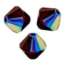20 Perles Toupies 4mm en cristal Swarovski Ref 5301 - GARNET AB