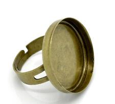 1x Einstellbarer Ringrohling Bronze 25 mm Cabochon