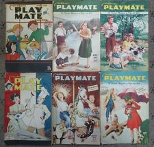 Lot of 6 Children's Play Mate Magazines, 1948-1954