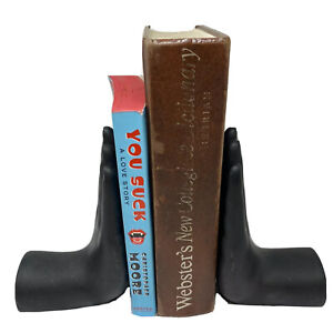 Luyesa Black Hands Book Ends Bookends Black Matte Hands