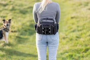 Trixie Dog Activity Treat Multi Waist Belt Bag + Dog Lead Clip For Dog Walking