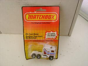 1983 MATCHBOX SUPERFAST #45 Con Kenworth C. O. E AERODYNE Camión Nuevo En Dañado