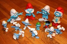 LOT of 13 Burger King SMURF Figures // Hefty Brainy Painter Smurfs FREE SHIPPING