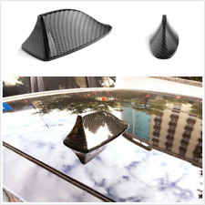 Black Carbon Fiber Style Car Roof Exterior Shark Fin Antenna Decorative Aerial