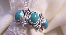 QVC 925 SS  Size 6   Turquoise PERFECT,  GORGEOUS, &  MINT!