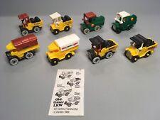 AUTOS: Satz Oldtimer LKW (mit allen Varianten, Aufklebern und BPZ) 1989