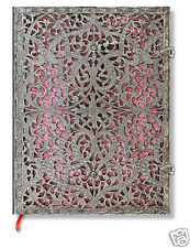 Paperblanks Writing Blank Lined Ultra Size Journal Silver Filigree Pink 7x9 New