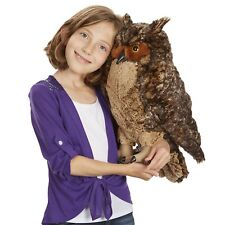 Large Owl Stuffed Cuddly Toy Toddler Play Plush Brown Bird Kids Bed Room Decor