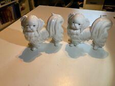 Vintage White Pekingese Ardalt Figurine Dogs
