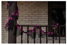 Impact Innovation H5604N13 Halloween Lighted Gauze Garland, Black
