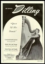 1950 Mildred Dilling photo harp recital Usa tour trade booking ad