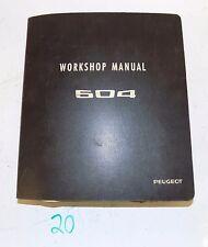 Peugeot 504 Workshop Repair Manual Manuel  Dated 6-70