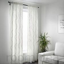 IKEA HILLMARI Gardinenpaar 145x300 Weiß Gardinen Gardinenschals Vorhang NEU
