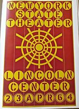 Robert Indiana Poster for New York State Theater Opening 16X11 LC
