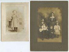 STUDIO PORTRAITS FAMILIES FROM ALLENTOWN/BETHLEHEM, PA, SET OF 4 VINTAGE PHOTOS