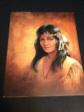 """Cherokee Maiden In Buckskin Large 16 X 20"""" Picture Print New In Lithograph"""