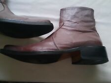 Mens NEW(other)TwoTone ALL LEATHER Cowboy MAUVE/brown/cuban heel EFFEBI Boots46