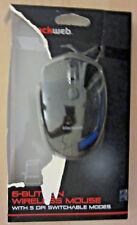BlackWeb 6-Button Wireless Mouse Black Computer Legit Gaming Bluetooth Tech