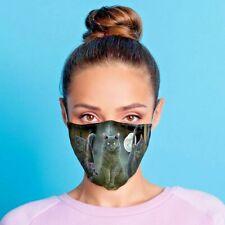 Lisa Parker Halloween schwarze Katzen Mund - Nasenschutz Stoffmaske