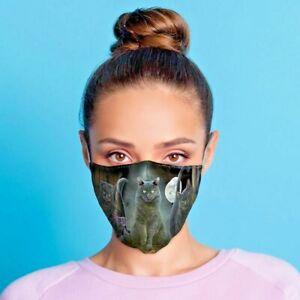 Lisa Parker Halloween Schwarze Katzen, Mund - Nasenschutz, Stoffmaske