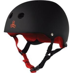Triple 8 Sweatsaver Helmet - Black Rubber/Red
