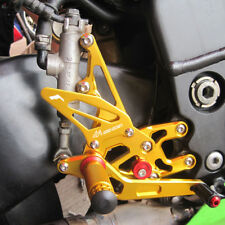 2004-2005 Kawasaki ZX10R ZX-10R Rearsets Foot pegs Footrest Rear set sets Gold