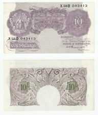 Bank of England 10 Shillings Banknote (1940) WWII issue - aEF.