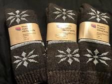3 Pair Super Warm QVC Catawba Merino Wool Socks medium
