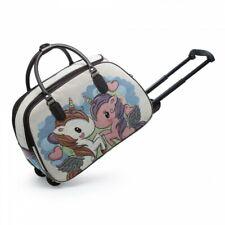 Rainbow Unicorn Stars Small Travel Duffel Bag Waterproof Weekend Bag with Strap