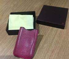 Leather Mulberry iPhone 4, 4S Case mulberry Burgundy Dark Purple With Box Rare.