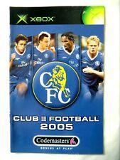 56711 Instruction Booklet - Club Football 2005 Chelsea - Microsoft Xbox (2004)