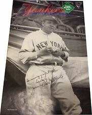 Julie Ruth Stevens Signed Babe Ruth Poster Yankee Magazine Page Spread 11x16 COA