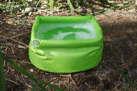 "5 LITER Inflatable Outdoor Camping Sink 5L Capacity 11"" Dia Base Neon Green"