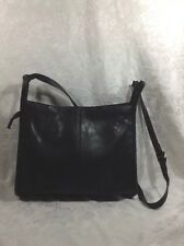 VINTAGE Lord & Taylor crossbody/messenger black nappa leather PREOWNED