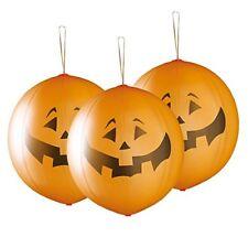 "Halloween Pumpkin Shaped Punch Balloon 45cm -18"" Pack of 3 ""PREMIUM QUALITY"""
