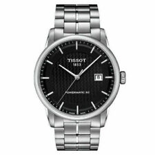 Tissol T0864071120102 41mm Black Stainless Steel Case with Silver Stainless Steel Band Men's Wristwatch