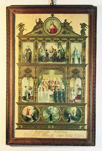 Certificat de communion encadré 1932