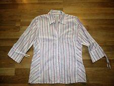 Ben sherman womes stripe pink blouse size medium