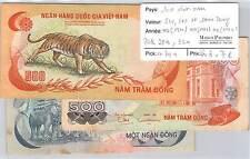 3 BILLETS SUD VIET-NAM - 500, 500 ET 1000 DONG (1970) (1972) (1972)
